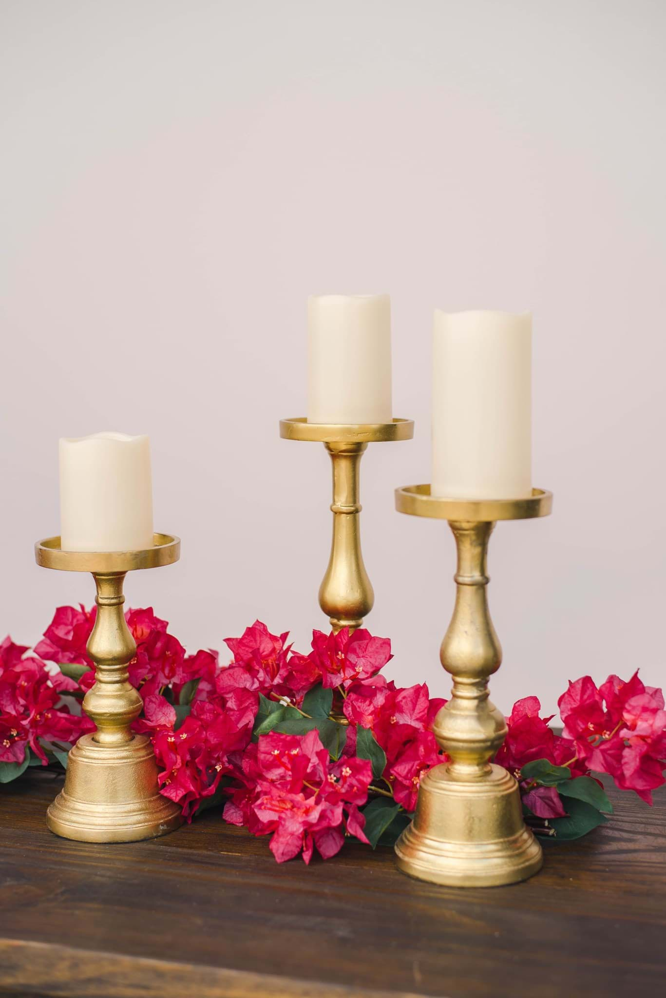 Picture of Premium Gold Candle Set of 3